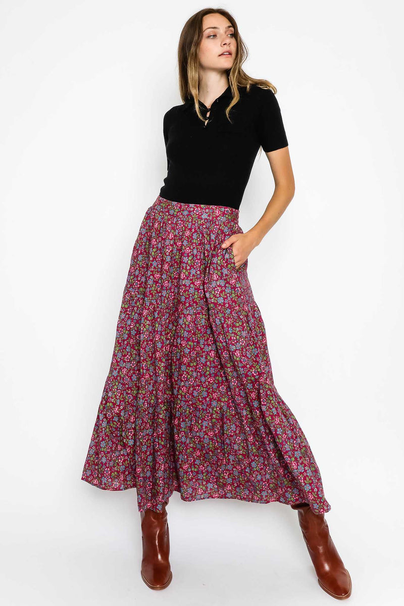 Patience Skirt Hedgehog Boysenberry