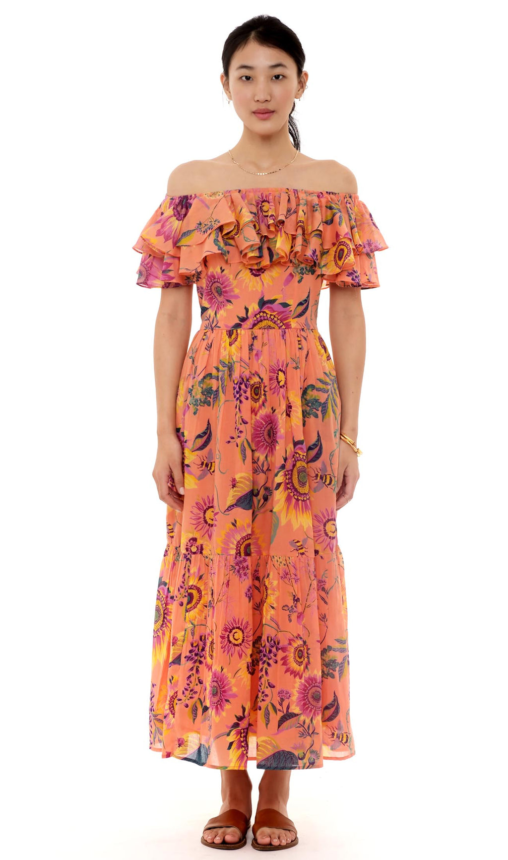 Banjanan Pricilla Dress Midsummer Coral