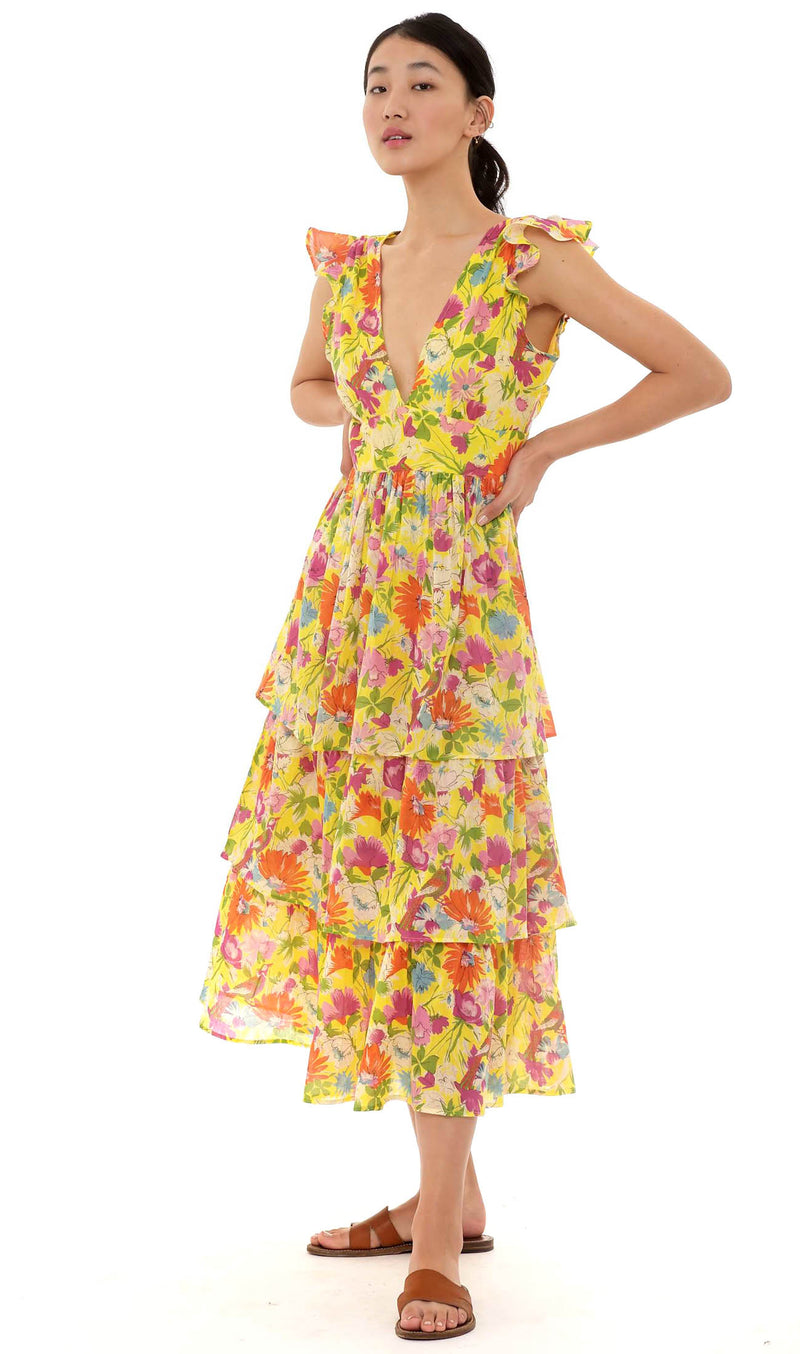 Banjanan Sierra Dress Fiesta Buttercup