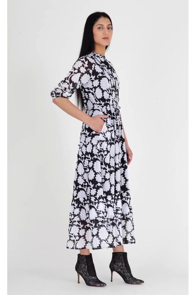 Bazaar Dress, Shadow Bloom Black