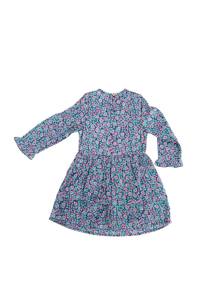Kids Miranda Dress, Miranda Floral Blueprint - ONE LEFT IN SIZE 6