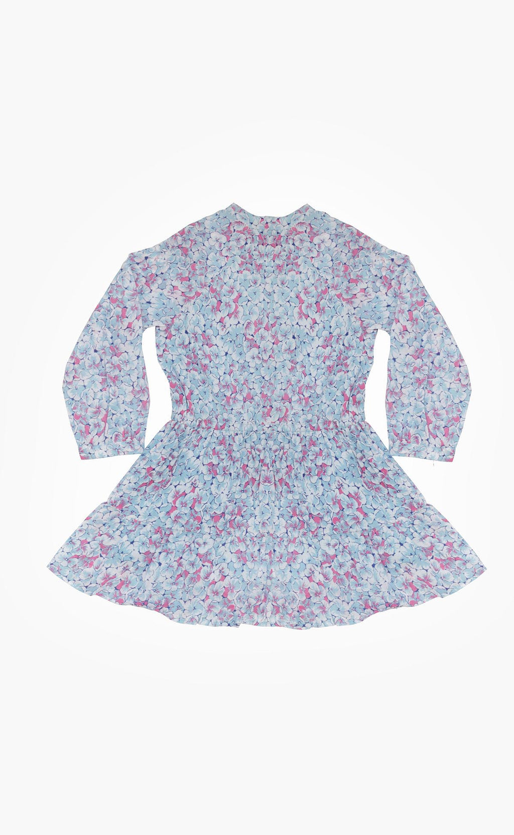 Chota Bazaar Dress Clover Field White Blue