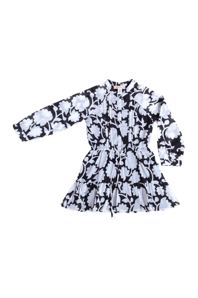 Kids Bazaar Dress, Shadow Bloom Black