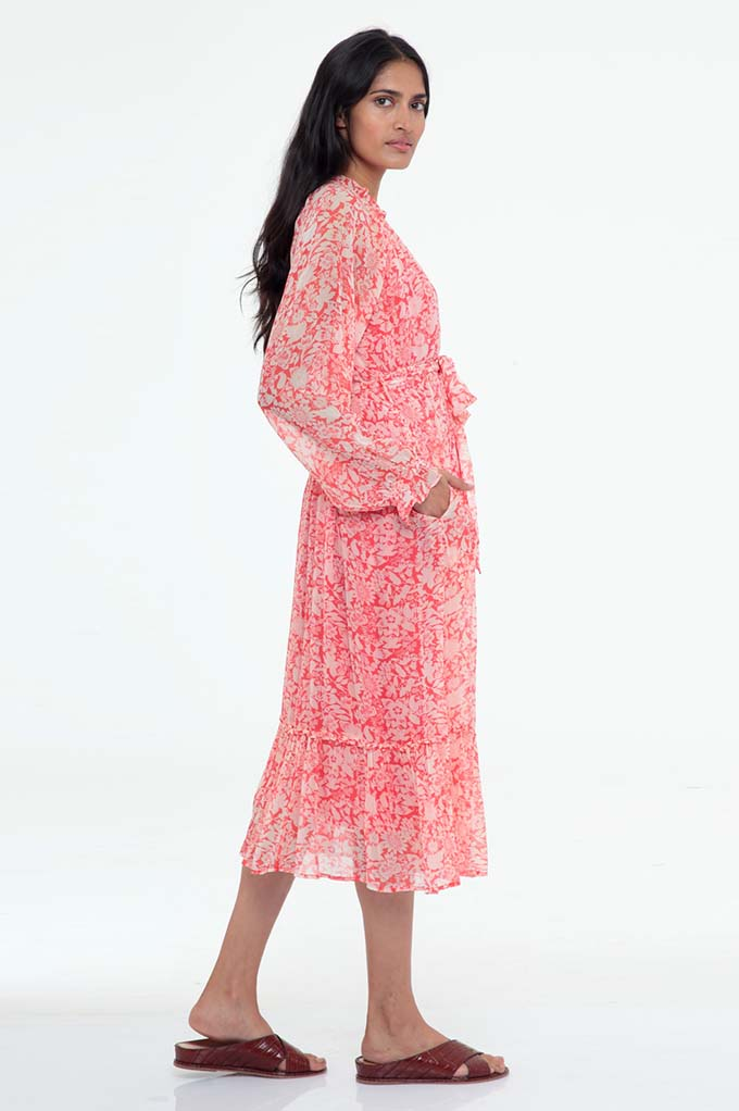Ester Dress Anna's Wild Garden Poppy Red - ONE LEFT IN XS