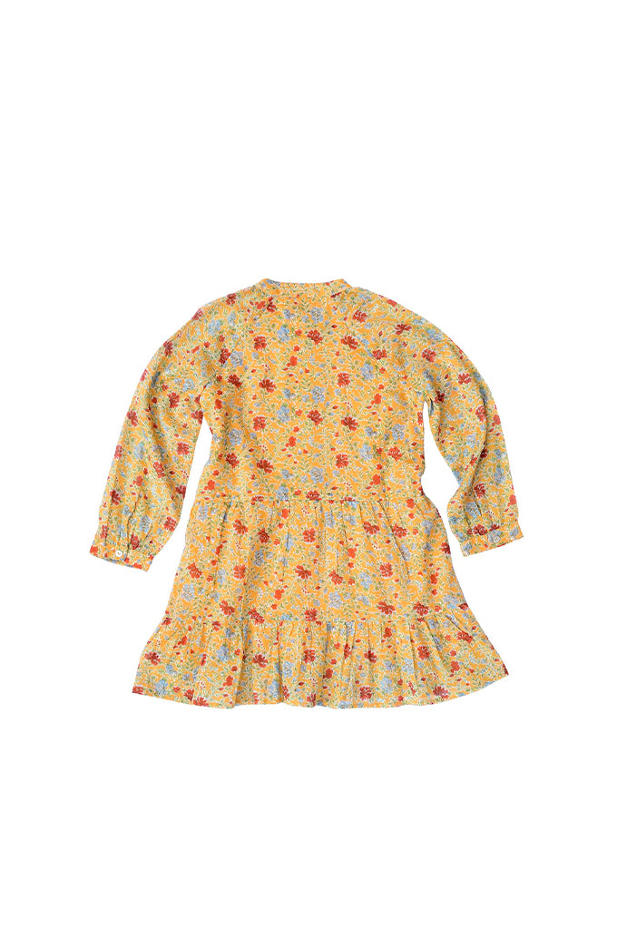 Kids Bazaar Dress, Siesta Bright Marigold,100% Organic Cotton Voile
