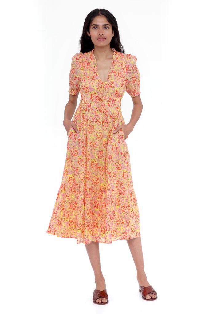 Sherry Dress Clover Field Yellow