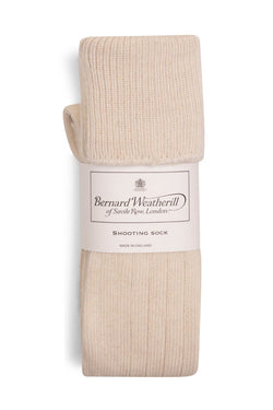 Bernard Weatherill Alpaca Shooting Sock Ecru Savile Row Gentlemens Outfitters