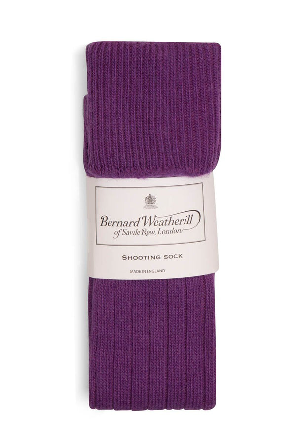 Bernard Weatherill Alpaca Shooting Sock Purple Savile Row Gentlemens Outfitters