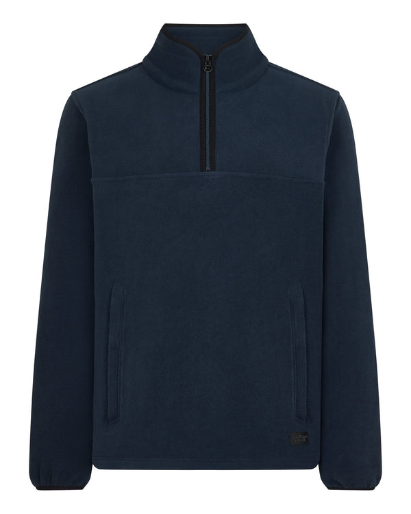 Bernard Weatherill Mens 1/4 Zip Summer Fleece Navy Savile Row Gentlemens Outfitters