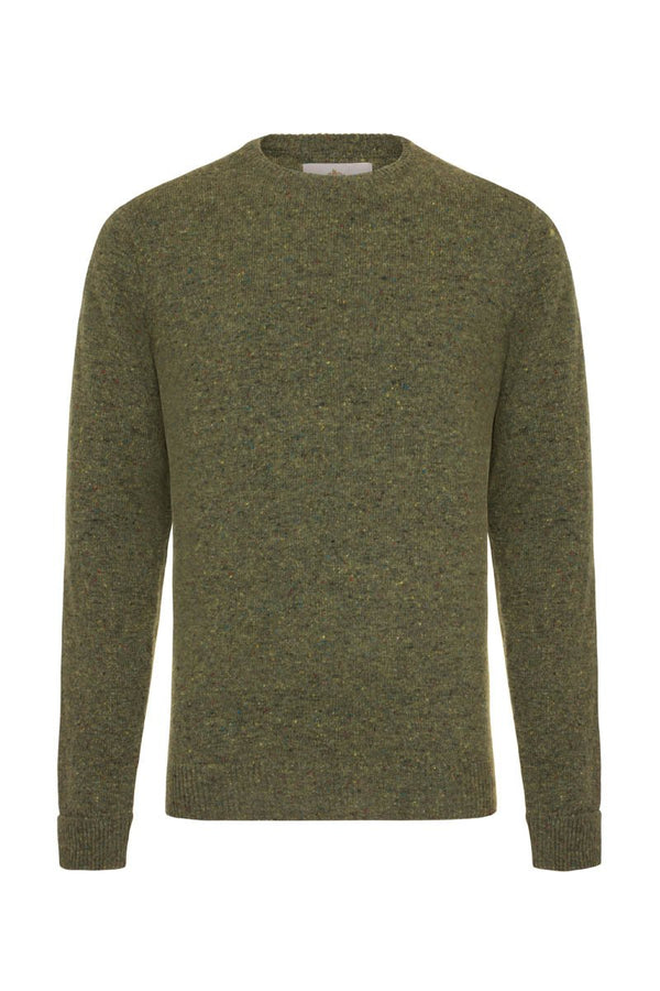 Bernard Weatherill Men's Donegal Crew Neck Knit Killarney | Malford of London Savile Row and Luxury Formal Wear Sale Outlet