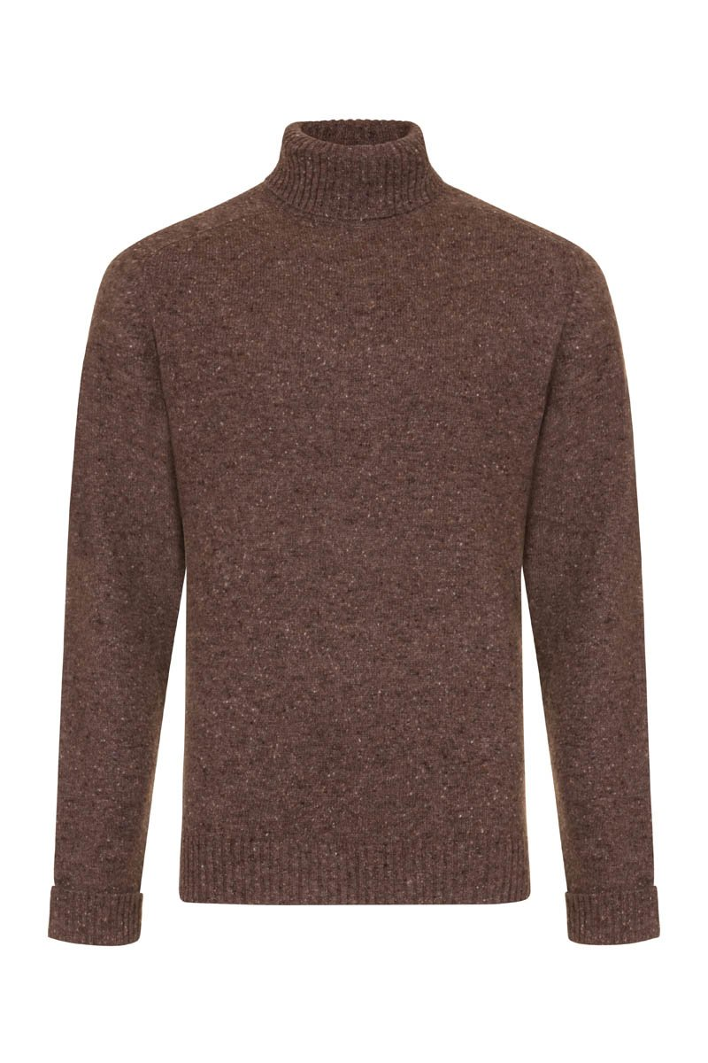 Bernard Weatherill Men's Donegal Roll Neck Knit Dundalk | Malford of London Savile Row and Luxury Formal Wear Sale Outlet