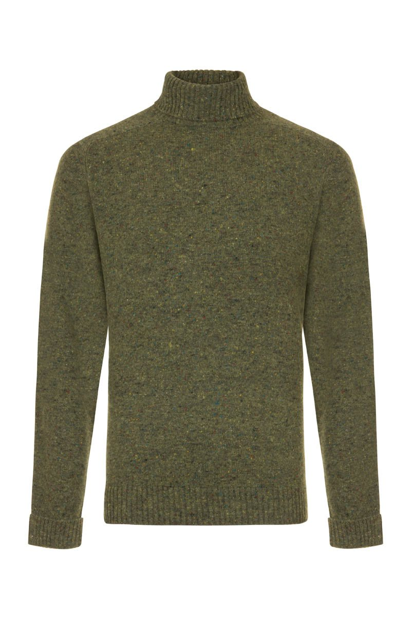 Bernard Weatherill Men's Donegal Roll Neck Knit Killarney | Malford of London Savile Row and Luxury Formal Wear Sale Outlet
