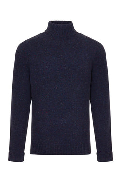 Bernard Weatherill Men's Donegal Roll Neck Knit Waterville | Malford of London Savile Row and Luxury Formal Wear Sale Outlet