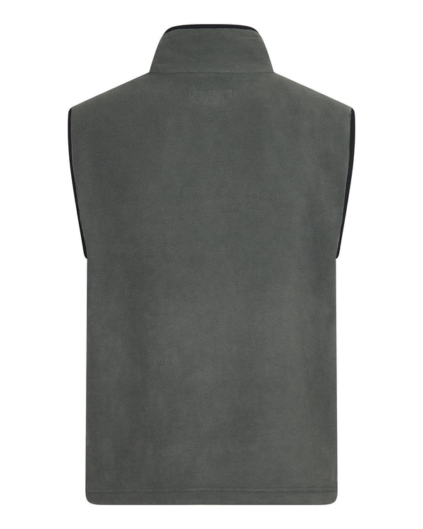 Bernard Weatherill Mens Gilet Summer Fleece Charcoal Savile Row Gentlemens Outfitters