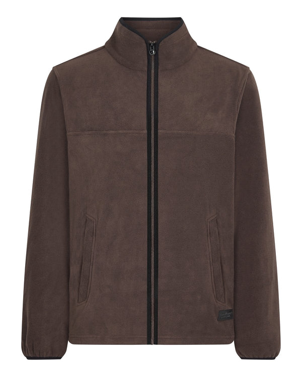 Bernard Weatherill Mens Zip Through Summer Fleece Brown Savile Row Gentlemens Outfitters