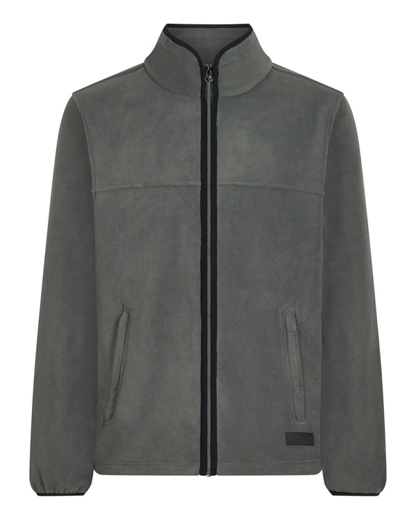 Bernard Weatherill Mens Zip Through Summer Fleece Charcoal Savile Row Gentlemens Outfitters