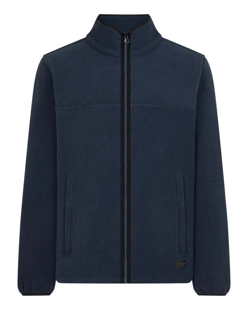 Bernard Weatherill Mens Zip Through Summer Fleece Navy Savile Row Gentlemens Outfitters
