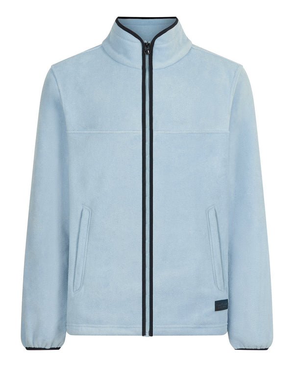 Bernard Weatherill Mens Zip Through Summer Fleece Sky Savile Row Gentlemens Outfitters