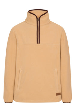 Bernard Weatherill Polartec 1/4 Zip Neck Fleece Tan Savile Row Gentlemens Outfitters