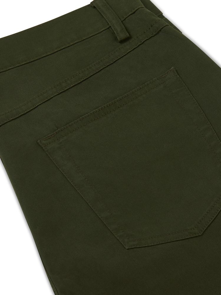 Brooks Brothers 5 pocket Cotton Jean Olive | Malford of London Savile Row and Luxury Formal Wear Sale Outlet