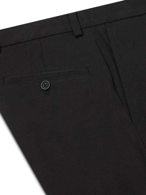 Brooks Brothers Milano Fit Chino Black | Malford of London Savile Row and Luxury Formal Wear Sale Outlet