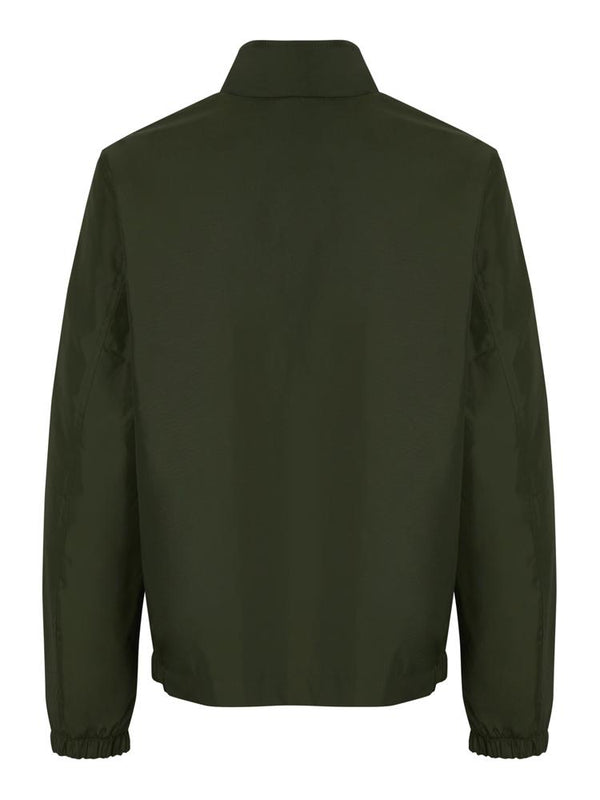 Brooks Brothers Nylon Green Bomber | Malford of London Savile Row and Luxury Formal Wear Sale Outlet