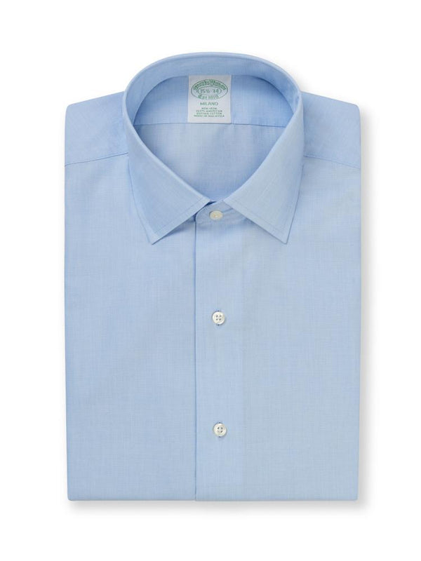 Brooks Brothers Regular Collar Sky Non Iron Shirt | Malford of London Savile Row and Luxury Formal Wear Sale Outlet