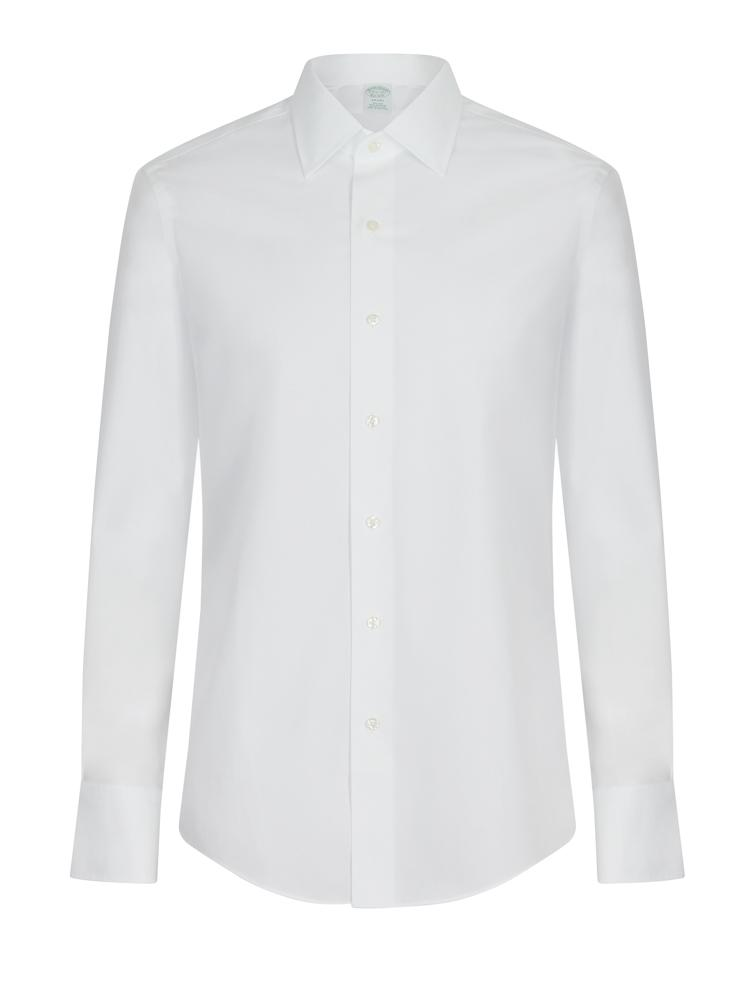 Brooks Brothers Regular Collar White Non Iron Shirt | Malford of London Savile Row and Luxury Formal Wear Sale Outlet