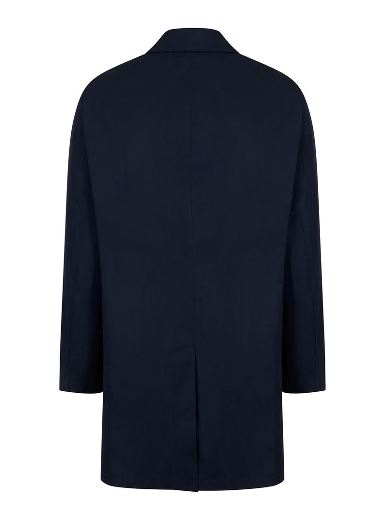 Brooks Brothers Short Navy Trench Coat | Malford of London Savile Row and Luxury Formal Wear Sale Outlet