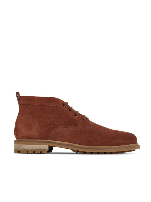 Clarks Foxwell Mid Boot British Tan | Malford of London Savile Row and Luxury Formal Wear Sale Outlet