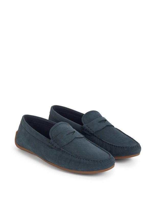 Clarks Reazor Penny Loafer Navy | Malford of London Savile Row and Luxury Formal Wear Sale Outlet