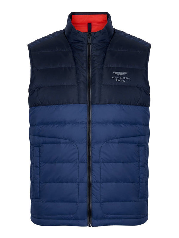 Hackett AMR Core Ski Gilet Navy/Blue | Malford of London Savile Row and Luxury Formal Wear Sale Outlet