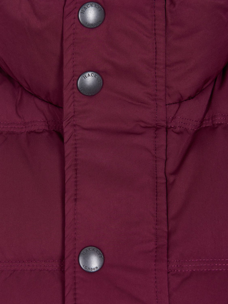 Hackett Classic Down Gilet Merlot | Malford of London Savile Row and Luxury Formal Wear Sale Outlet