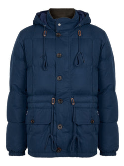 Hackett HKT Nylon Puffa Jacket Navy | Malford of London Savile Row and Luxury Formal Wear Sale Outlet
