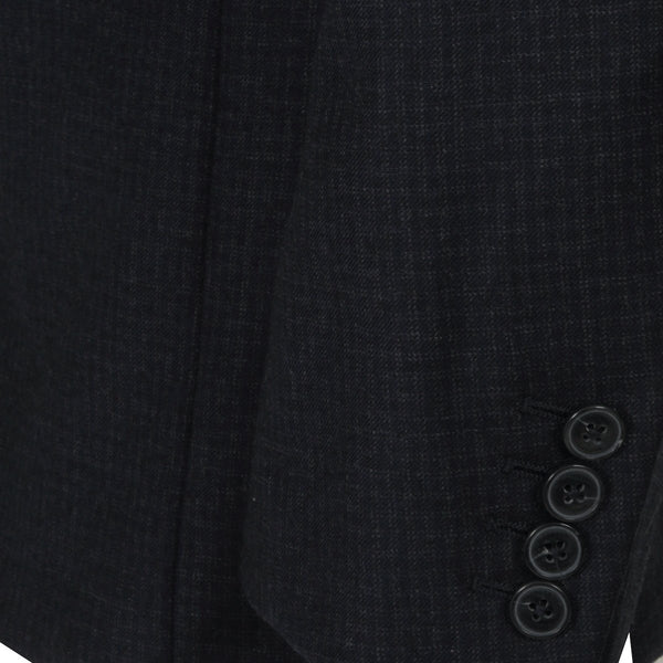 Hackett Navy Checker Savile Row Wool Suit | Malford of London Savile Row and Luxury Formal Wear Sale Outlet