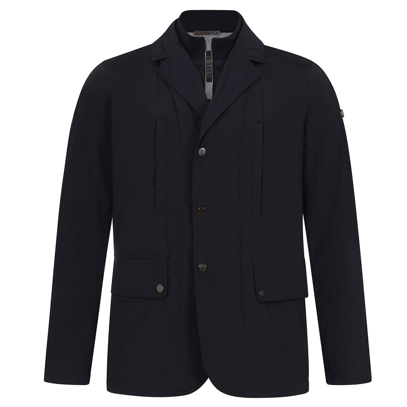 Hackett Savile AML Stretch Nylon Blazer Jacket Navy | Malford of London Savile Row and Luxury Formal Wear Sale Outlet
