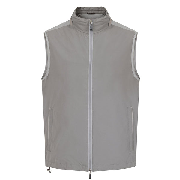 Hackett Savile Aston Martin Knit Back Gilet Grey | Malford of London Savile Row and Luxury Formal Wear Sale Outlet