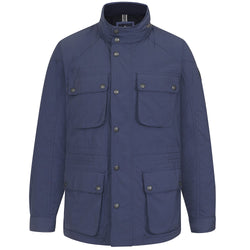 Hackett Savile Charbour Jacket Blue | Malford of London Savile Row and Luxury Formal Wear Sale Outlet