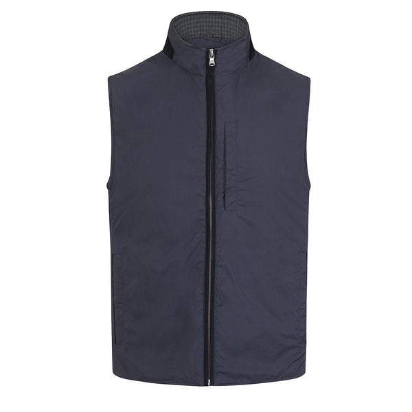 Hackett Savile Nylon Gilet Navy | Malford of London Savile Row and Luxury Formal Wear Sale Outlet