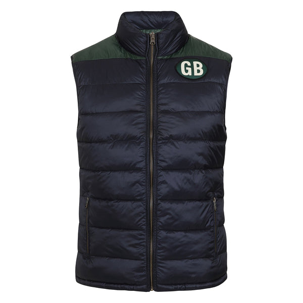 Hackett Savile Reversible British Kit Gilet Navy Green | Malford of London Savile Row and Luxury Formal Wear Sale Outlet