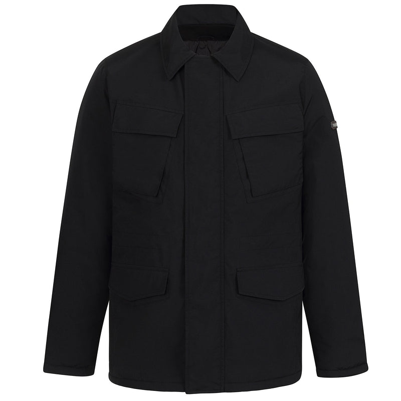 Hackett Savile Row 4 Pocket Overcoat Black | Malford of London Savile Row and Luxury Formal Wear Sale Outlet