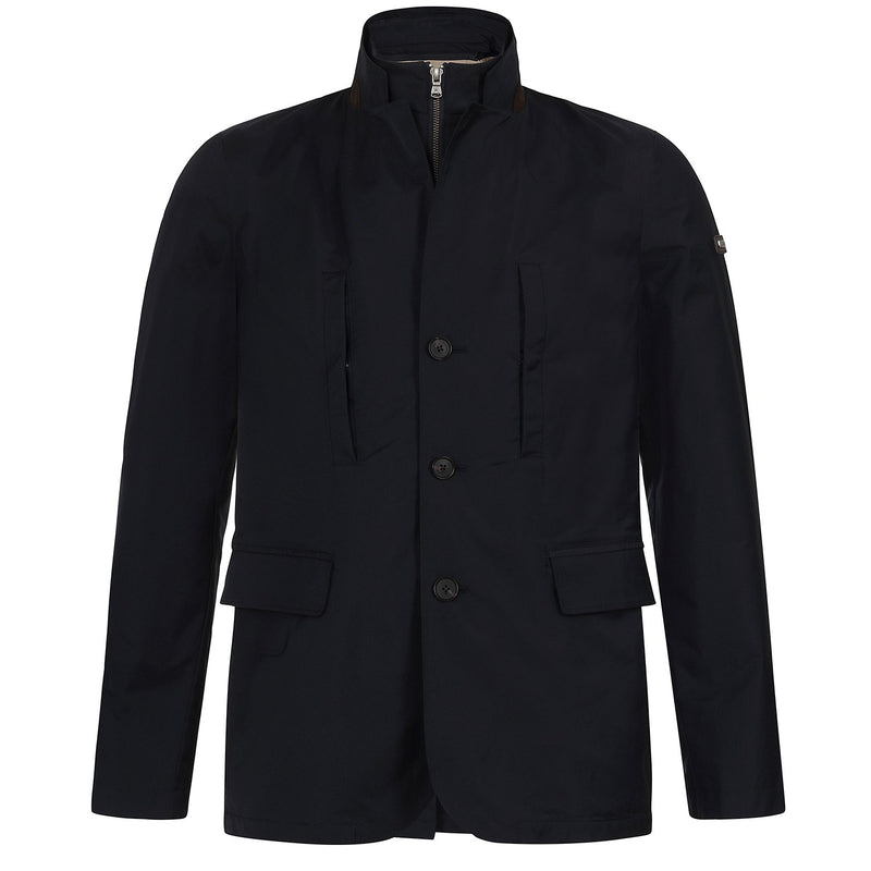 Hackett Savile Row BIB Stretch Blazer Jacket Navy | Malford of London Savile Row and Luxury Formal Wear Sale Outlet