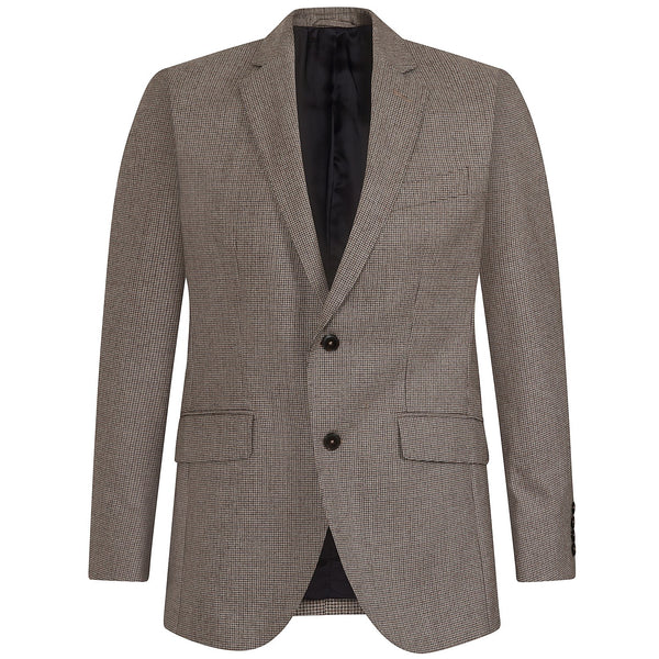 Hackett Savile Row Brown Mouline PTOOTH B Suit Brown | Malford of London Savile Row and Luxury Formal Wear Sale Outlet