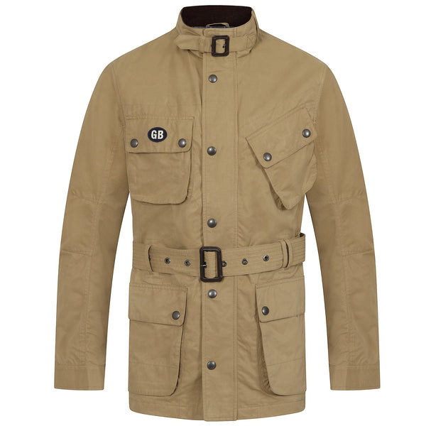 Hackett Savile Row GB Belted International Jacket Beige Khaki | Malford of London Savile Row and Luxury Formal Wear Sale Outlet
