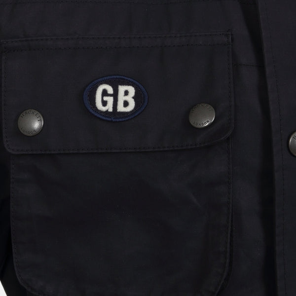 Hackett Savile Row GB Wax International Jacket Navy | Malford of London Savile Row and Luxury Formal Wear Sale Outlet
