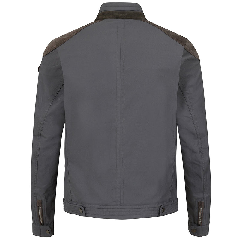 Hackett Savile Row Moto Jacket Grey | Malford of London Savile Row and Luxury Formal Wear Sale Outlet
