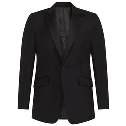 Hackett Savile Row MYF EV Strech Tux Suit Black | Malford of London Savile Row and Luxury Formal Wear Sale Outlet
