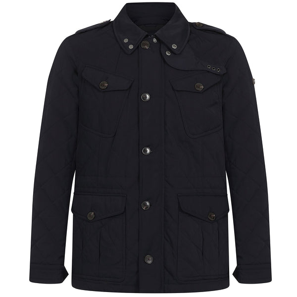 Hackett Savile Row Quilt $ Pocket Jacket Dark Navy | Malford of London Savile Row and Luxury Formal Wear Sale Outlet