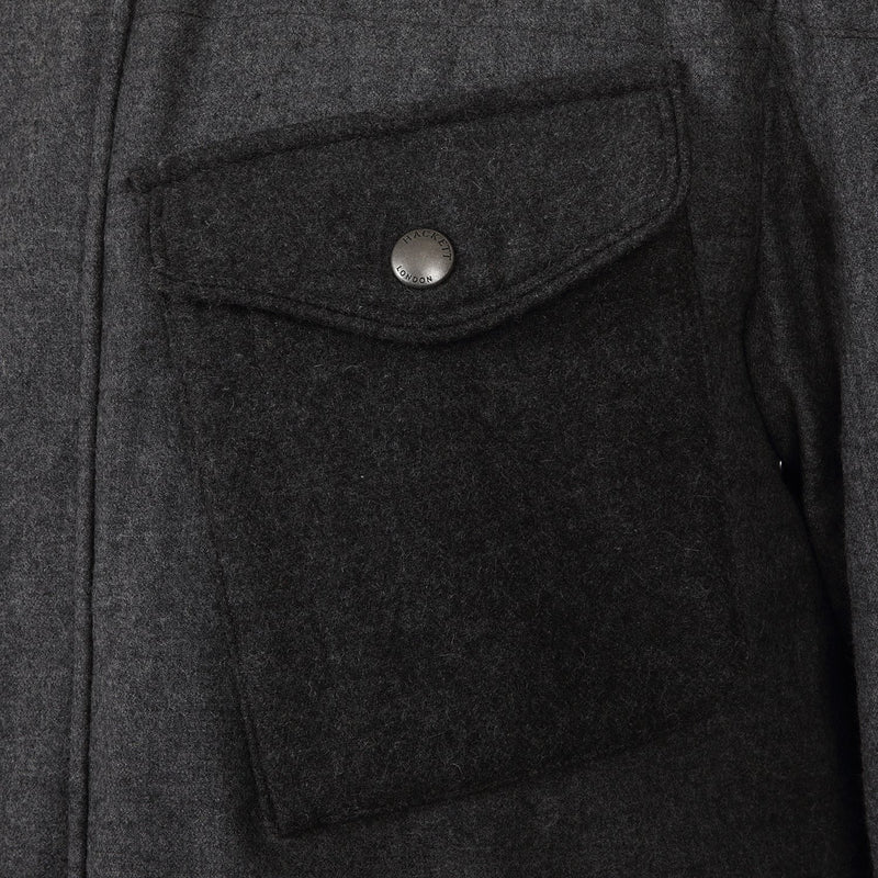 Hackett Savile Row Wool Grey Parka Dark Grey | Malford of London Savile Row and Luxury Formal Wear Sale Outlet