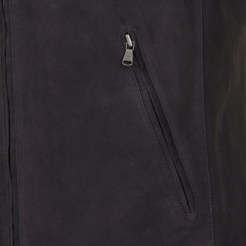 Hackett Savile Suede Gilet Zip Pocket Gilet Navy | Malford of London Savile Row and Luxury Formal Wear Sale Outlet